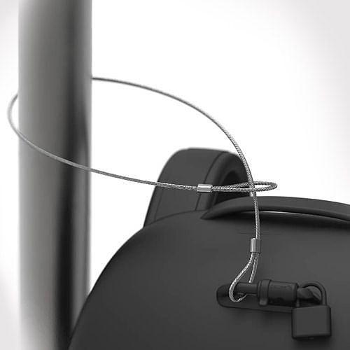 Locking cable в рюкзаке Pacsafe