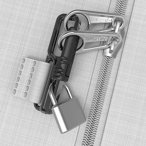 Lockabout security clip замок для ползунков молний в рюкзаке Pacsafe