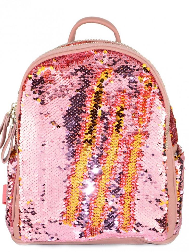 fa05fd15faed Рюкзак с пайетками-перевертышами Nikki розовый-золотой купить в ...