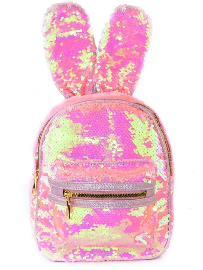 65d47a2c05f8 Рюкзак с пайетками Зайка нежно-розовый купить в Москве в интернет ...