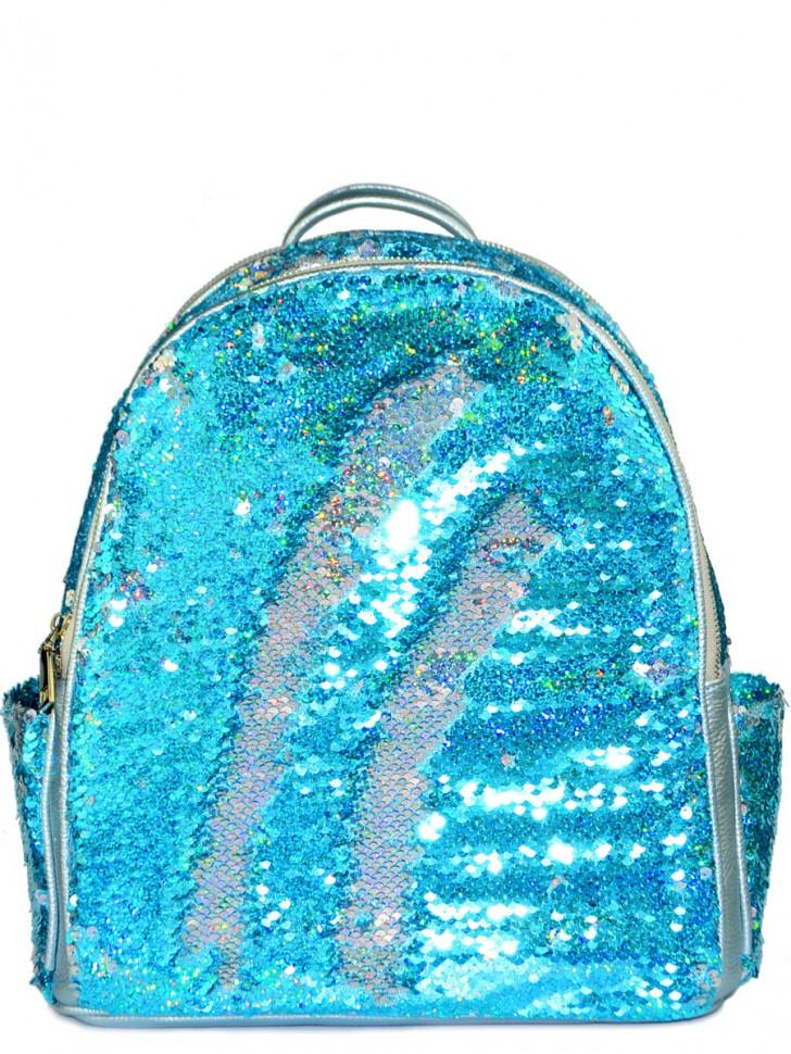 dec8eebb883b Рюкзак с пайетками Nikki голубой-серебряный на А4