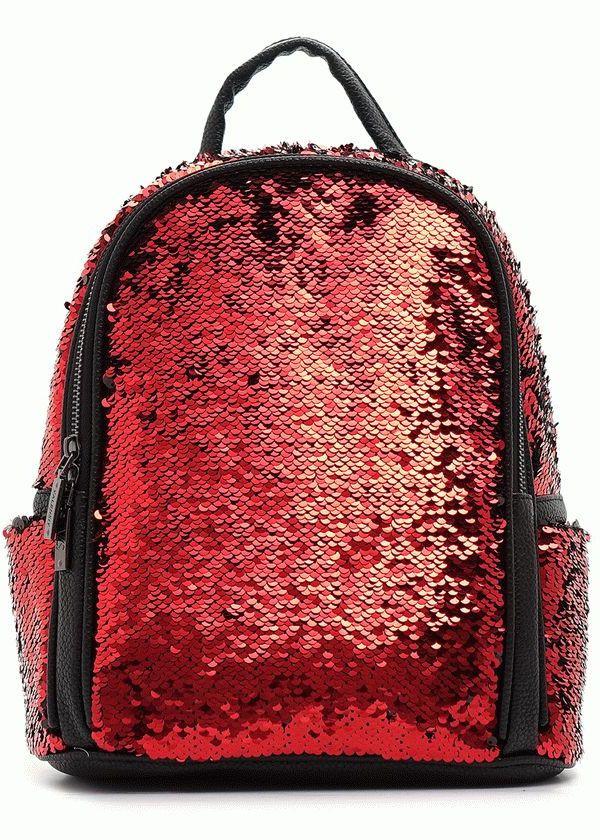 dcd9698cb7f1 Рюкзак с пайетками-перевертышами Valensiya красный-черный купить в ...